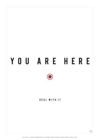 You Are Here-Antoine Tesquier Tedeschi-Art Print