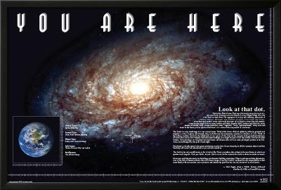 You Are Here--Lamina Framed Poster