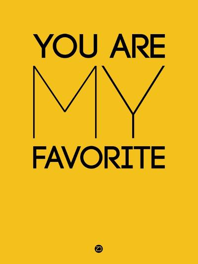 You are My Favorite Yellow-NaxArt-Art Print