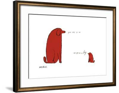 You Are So Little and You Are So Big, c. 1958-Andy Warhol-Framed Giclee Print