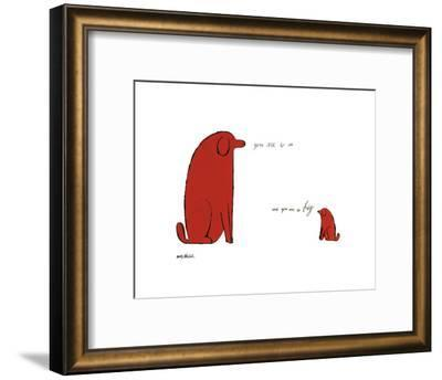 You Are So Little And You Are So Big, c. 1958-Andy Warhol-Framed Art Print