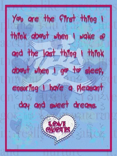 You are the First Thing I Think About-Cathy Cute-Giclee Print