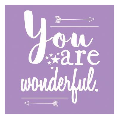 You Are Wonderful-Jelena Matic-Art Print