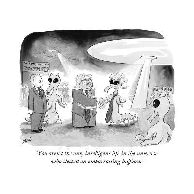 """You aren't the only intelligent life in the universe who elected an embar? - Cartoon-Tom Toro-Premium Giclee Print"
