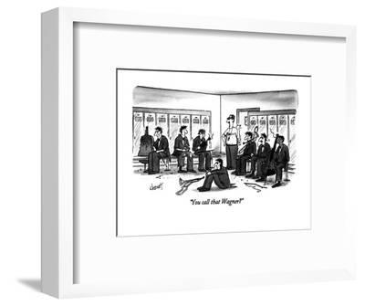 """""""You call that Wagner?"""" - New Yorker Cartoon-Tom Cheney-Framed Premium Giclee Print"""