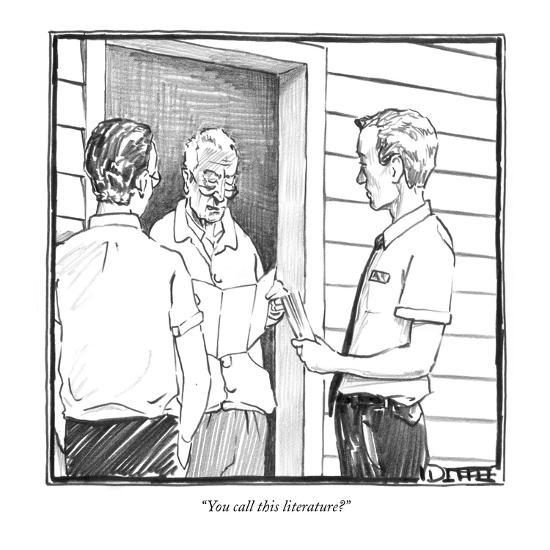 """You call this literature?"" - New Yorker Cartoon-Matthew Diffee-Premium Giclee Print"