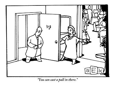 """""""You can cast a pall in there."""" - New Yorker Cartoon-Bruce Eric Kaplan-Premium Giclee Print"""