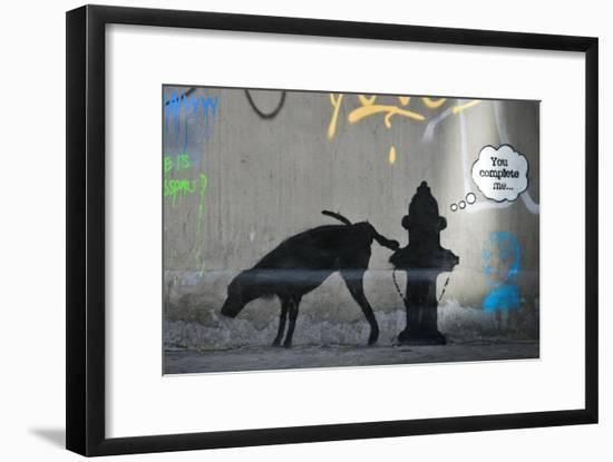 You Complete Me-Banksy-Framed Giclee Print