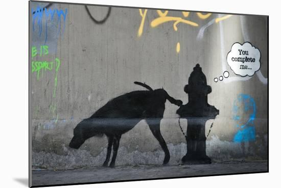 You Complete Me-Banksy-Mounted Giclee Print