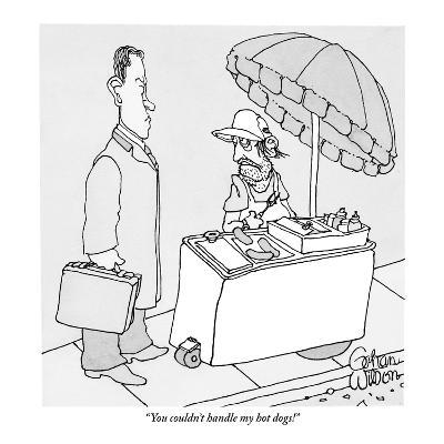 """You couldn't handle my hot dogs!"" - New Yorker Cartoon-Gahan Wilson-Premium Giclee Print"