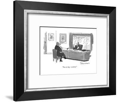 """You eat dog ? excellent!"" - New Yorker Cartoon-Danny Shanahan-Framed Premium Giclee Print"