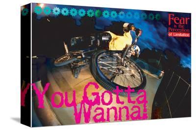 You Gotta Wanna!--Stretched Canvas Print