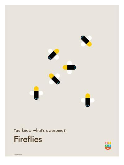 You Know What's Awesome? Fireflies (Gray)-Wee Society-Giclee Print