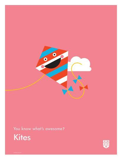You Know What's Awesome? Kites (Pink)-Wee Society-Giclee Print