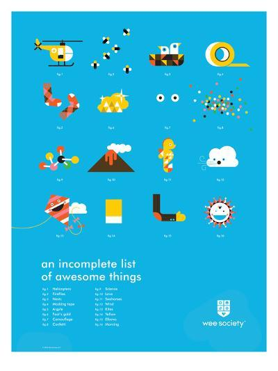 You Know What's Awesome? List (Blue)-Wee Society-Giclee Print