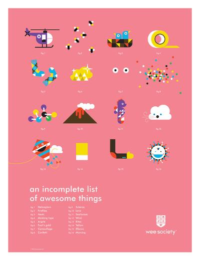 You Know What's Awesome? List (Pink)-Wee Society-Giclee Print