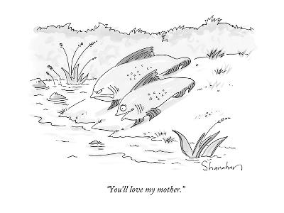 """You'll love my mother."" - New Yorker Cartoon-Danny Shanahan-Premium Giclee Print"