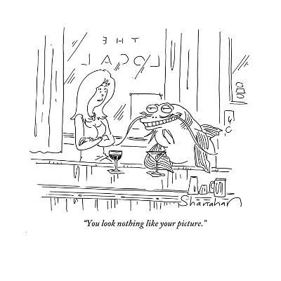 """""""You look nothing like your picture."""" - Cartoon-Danny Shanahan-Premium Giclee Print"""