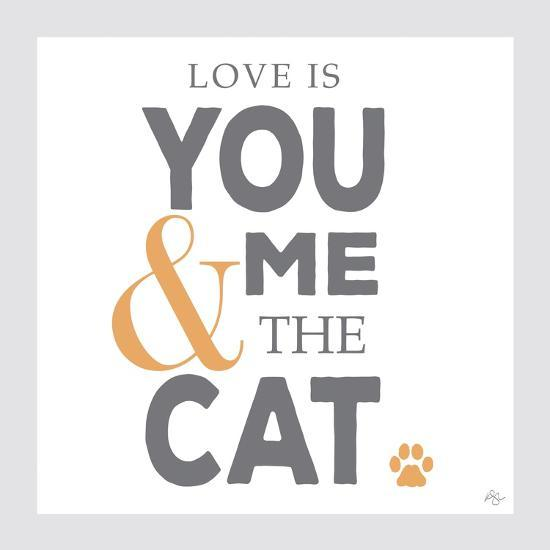 You Me and the Cat-Kimberly Glover-Giclee Print