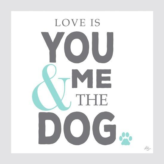 You Me and the Dog-Kimberly Glover-Giclee Print