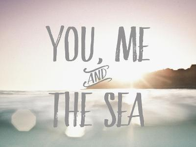 You Me + The Sea-Rebecca Peragine-Art Print