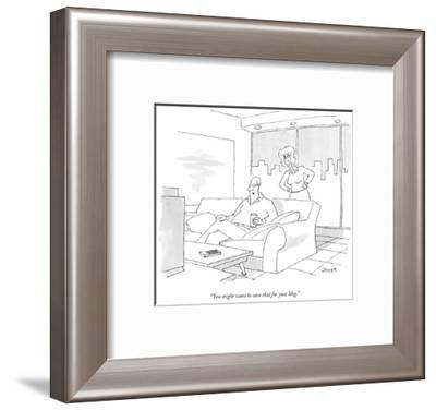 """""""You might want to save that for your blog."""" - New Yorker Cartoon-Jack Ziegler-Framed Premium Giclee Print"""