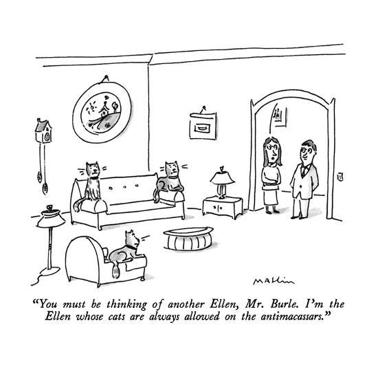 """You must be thinking of another Ellen, Mr. Burle.  I'm the Ellen whose ca?"" - New Yorker Cartoon-Michael Maslin-Premium Giclee Print"