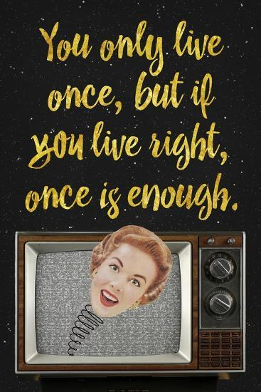 You Only Live Once-Elo Marc-Giclee Print