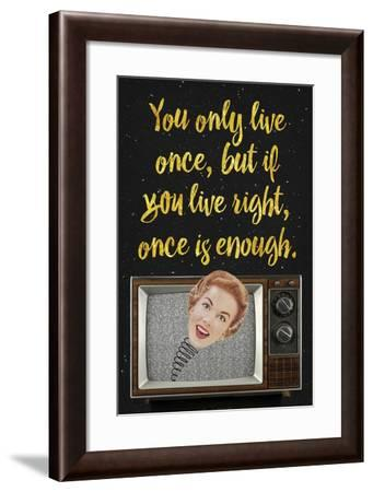 You Only Live Once-Elo Marc-Framed Giclee Print