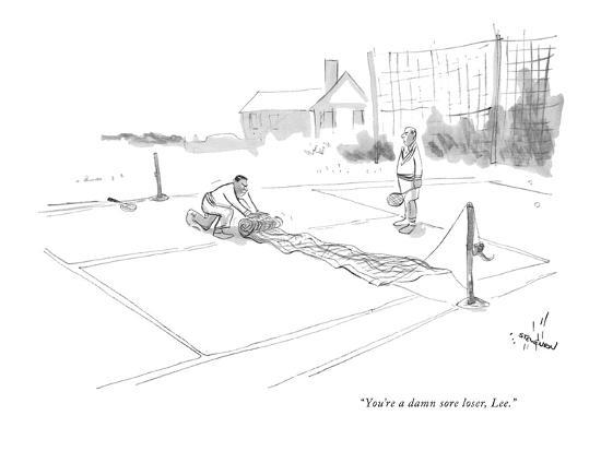 """You're a damn sore loser, Lee."" - New Yorker Cartoon-James Stevenson-Premium Giclee Print"