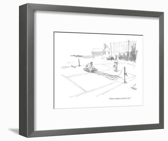 """You're a damn sore loser, Lee."" - New Yorker Cartoon-James Stevenson-Framed Premium Giclee Print"