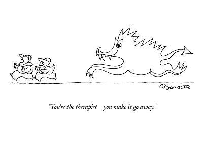 """You're the therapist?you make it go away."" - New Yorker Cartoon-Charles Barsotti-Premium Giclee Print"