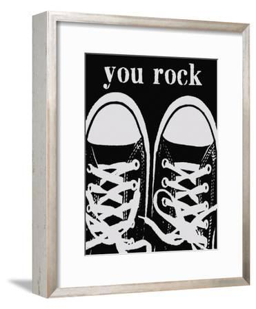 You Rock Black Sneakers-Lisa Weedn-Framed Giclee Print