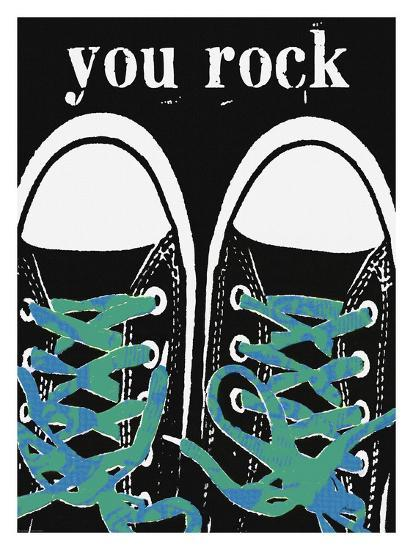 You Rock - Blue Laces-Lisa Weedn-Giclee Print