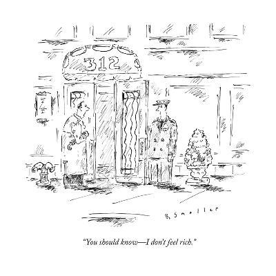 """""""You should know?I don't feel rich."""" - New Yorker Cartoon--Premium Giclee Print"""