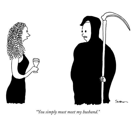 """You simply must meet my husband."" - New Yorker Cartoon-Michael Shaw-Premium Giclee Print"