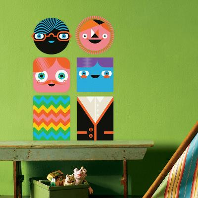 You-Things Totem Collection 3 Wall Decal-Wee Society-Wall Decal