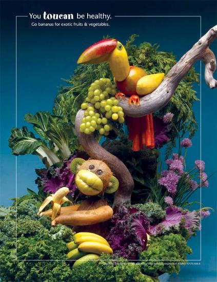 You Toucan Be Healthy Foodscapes™--Laminated Poster