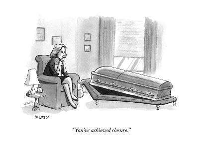 """You've achieved closure."" - New Yorker Cartoon-Benjamin Schwartz-Premium Giclee Print"