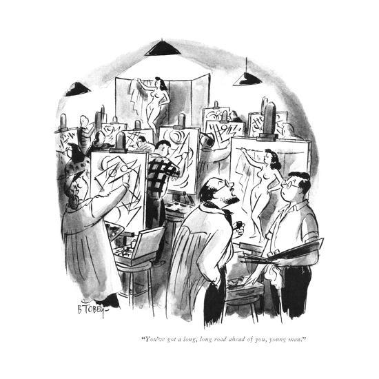 """You've got a long, long road ahead of you, young man."" - New Yorker Cartoon-Barney Tobey-Premium Giclee Print"