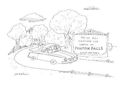 You've Just Scratched the Surface of Fenton Falls Please Come Again. - Cartoon-Michael Maslin-Premium Giclee Print