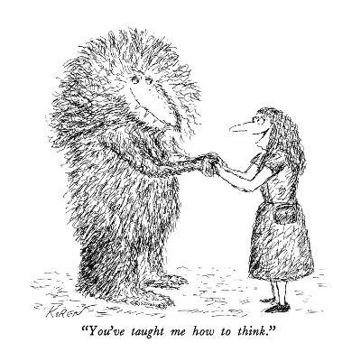 """You've taught me how to think."" - New Yorker Cartoon-Edward Koren-Premium Giclee Print"