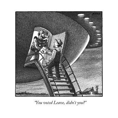 """""""You voted Leave, didn't you?"""" - New Yorker Cartoon-Harry Bliss-Premium Giclee Print"""