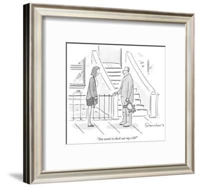 """You want to check out my crib?"" - New Yorker Cartoon-Danny Shanahan-Framed Premium Giclee Print"