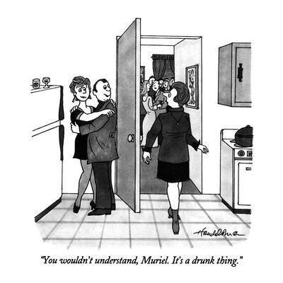 """You wouldn't understand, Muriel.  It's a drunk thing."" - New Yorker Cartoon-J.B. Handelsman-Premium Giclee Print"