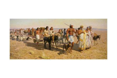 Young Abram Travels with Family Up Euphrates Valley-Tom Lovell-Giclee Print