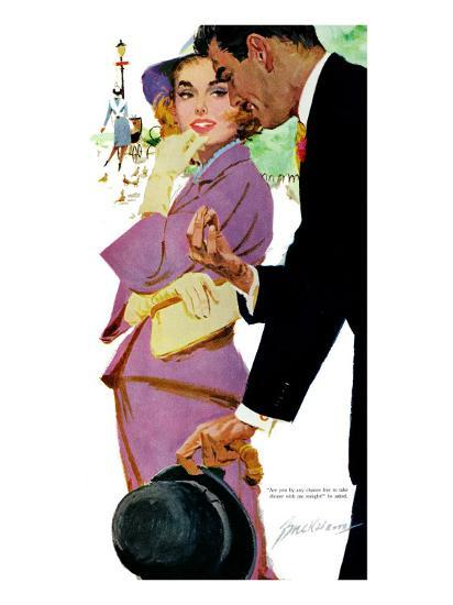 """Young and Pampered - Saturday Evening Post """"Leading Ladies"""", January 3, 1959 pg.31-Lynn Buckham-Giclee Print"""