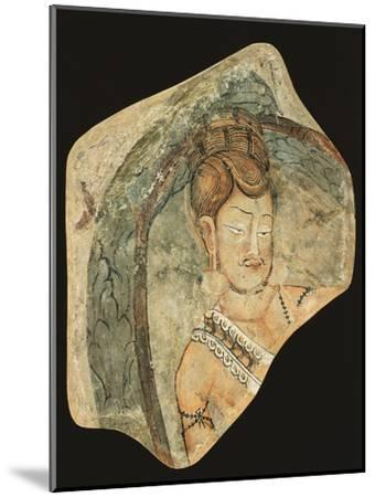 Young Ascetic in Hut of Leaves, Mural Painting from Navigators of Kizil Cave, Xinjiang, China--Mounted Giclee Print