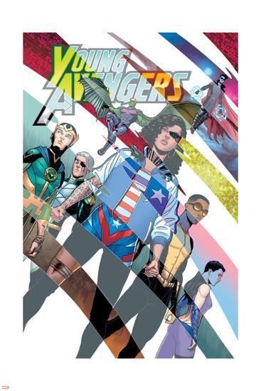 Young Avengers #8 Cover: Hawkeye, Hulkling, Loki, Marvel Boy, Miss ...