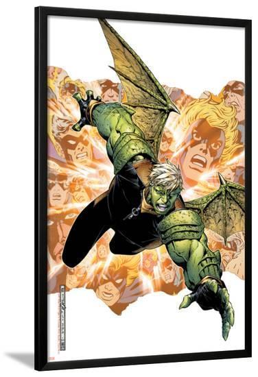 Young Avengers Presents No.2 Cover: Hulkling-Jim Cheung-Lamina Framed Poster